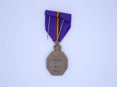 Décoration Belgique - Médaille de la reconnaissance Belge 1940-1945 - Croix-Rouge - Patria Grata