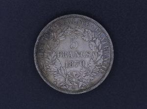 Pièce de monnaie - France - 5 Francs - 1870 - A
