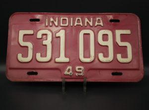 Indiana – Immatriculation – 1949