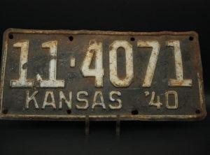 Kansas – Immatriculation – 1940