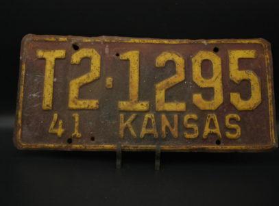 Plaque d'immatriculation - U.S.A. - Kansas - 1941