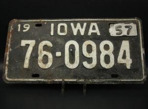 Iowa – Immatriculation – 1957