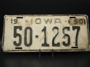 Iowa – Immatriculation – 1950