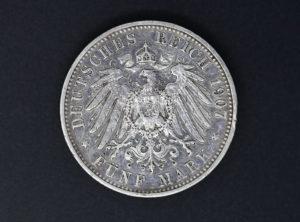 Württemberg – 1907 – 5 Mark – Wilhelm II