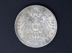 Allemagne – Sachsen – 1914 – 5 Mark E – Friedrich August