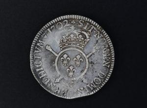 France – Ecu aux insignes – 1702 – T – Louis XIV