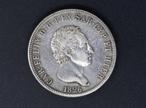 Italie – 1826 – Sardaigne – 5 Lire – Torino – Carl Felix
